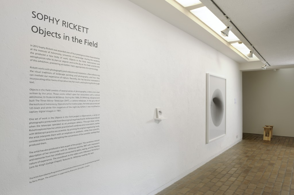 Objects in the Field - installation at Kettle's Yard, Cambridge 13th Sept - 3rd Nov 2013