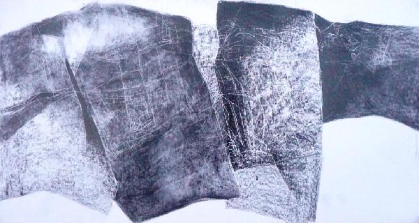 Gill Crozier, Quarry Drawing I, graphite