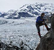"""James Balog installs """"Cliff"""" camera AK-03 at Columbia Glacier, Alaska."""